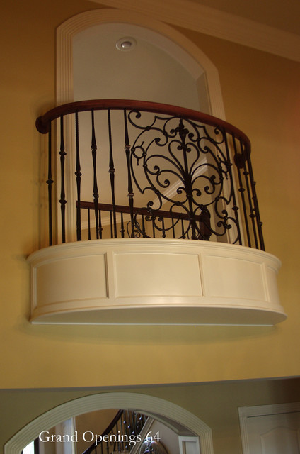 Curved Balcony Kits traditional entry