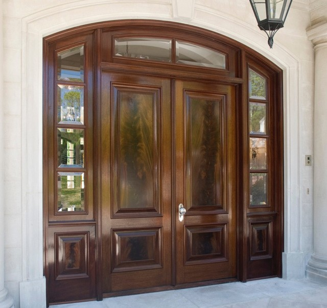 Custom Arched Double Entry Door With