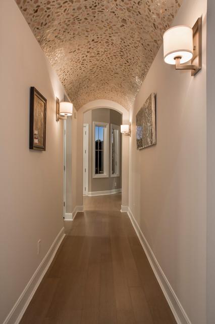 Custom Barrel Vaulted Ceiling Entry Hallway Modern Entry Cincinnati By Cutter Custom Homes