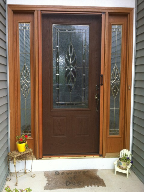 Custom Color and Woodgrain Doors traditional-entry