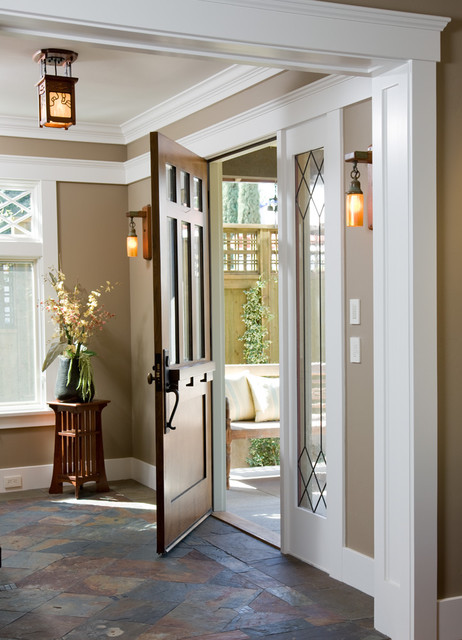 Custom Craftsman traditional entry