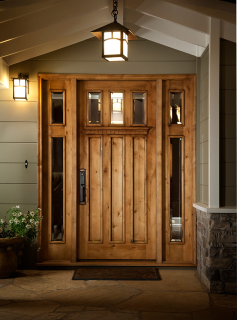 Custom craftsman entry door traditional entry san for Unique front entry doors
