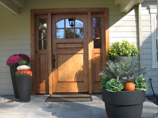 A beautiful front entry traditional-entry