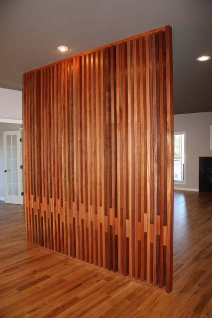 Custom Dividing Wall Contemporary Entry New York