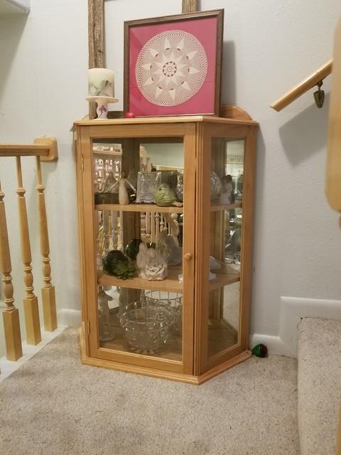 Custom End Table Curio Cabinet