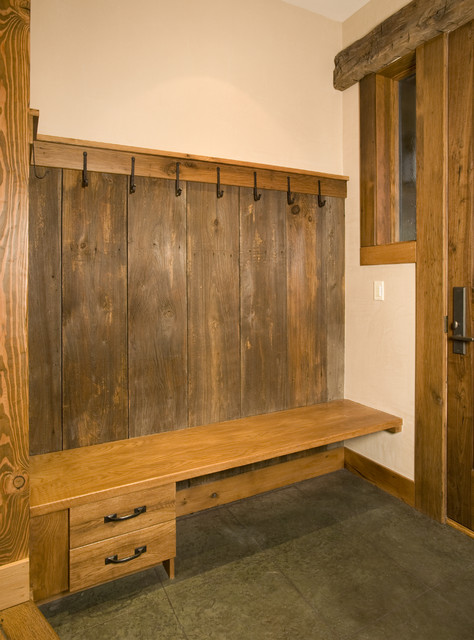 Foyer Cabinet Questions : Custom entryway bench and storage traditional entry