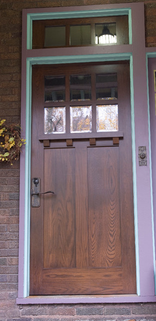 Custom Front Door   White Oak Craftsman Style Craftsman Entry