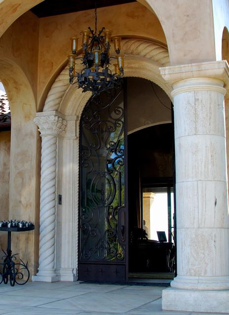 Custom Home in Santa Barbara mediterranean-entry