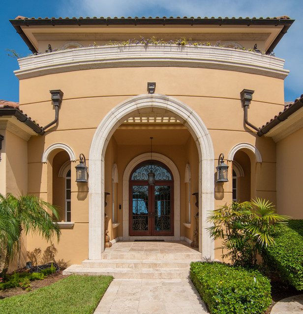Custom Homes By Mercedes Premier Homes mediterranean-entry
