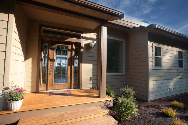 Custom homes contemporary entry seattle by estes for Questions to ask a custom home builder