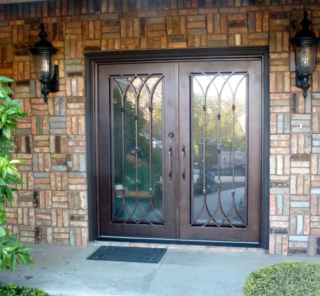 Custom Iron Door Traditional Entry Dallas By A A Leaded