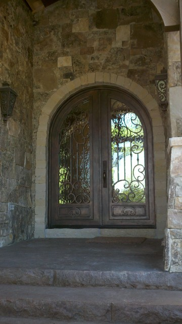 Custom Iron Doors - Multiple Projects traditional-front-doors