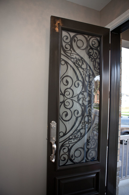 Custom lasercut metal doors contemporary entry for Custom made exterior steel doors