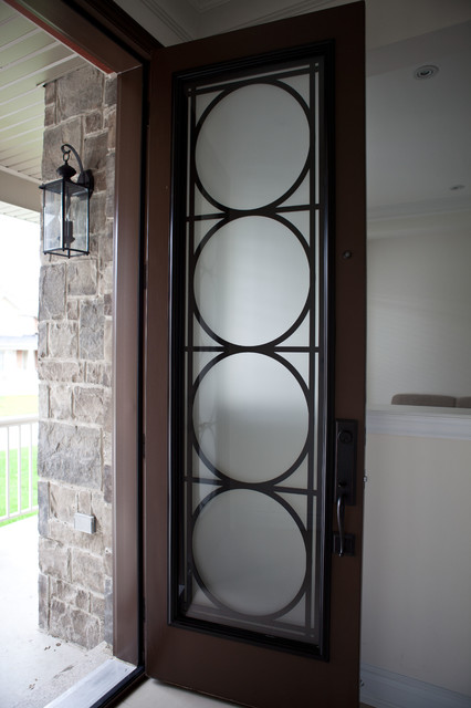 Custom lasercut metal doors entry other metro by for Exterior doors with screen insert