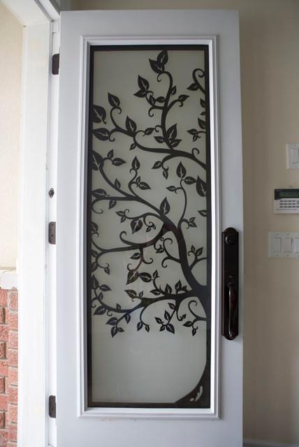 Custom Lasercut Metal Doors Modern Entry Other By