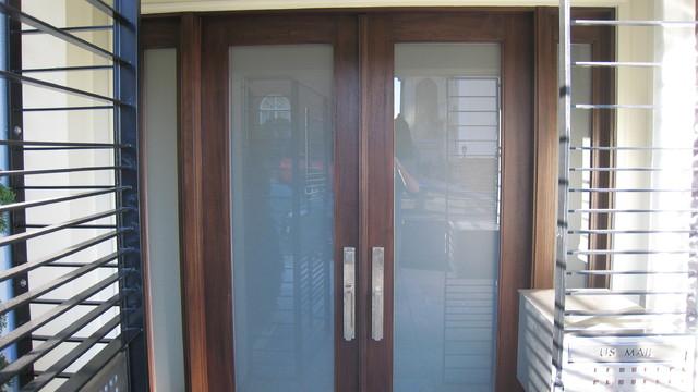 Custom Mahogany Entry Door Contemporary Entry San