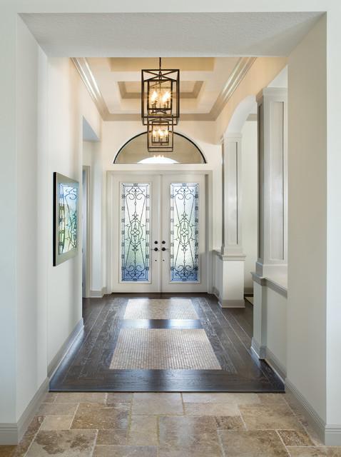 Foyer Design St Sauveur : Custom model home coquina traditional entry