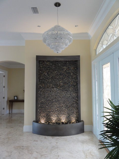 Custom Pebble Water Feature - Marco Island, FL contemporary-entry