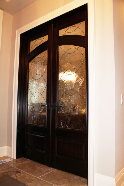 Custom wood interior doors project contemporary entry - Contemporary glass doors interior ...