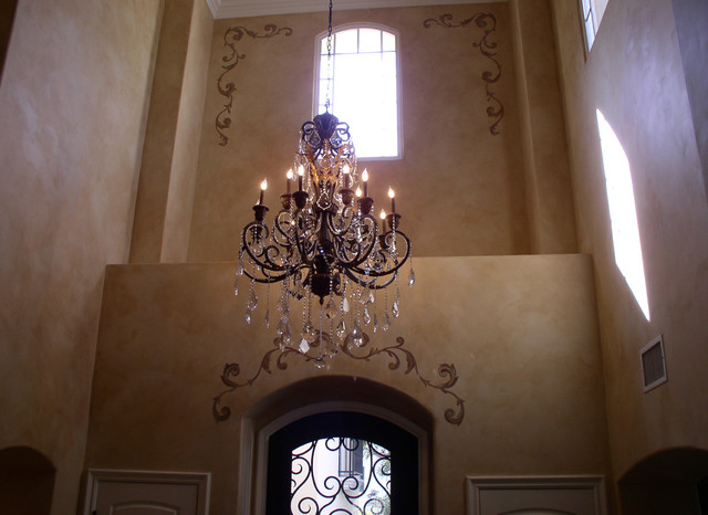 Customized chandelier mediterranean entry los angeles by the customized chandelier mediterranean entry aloadofball