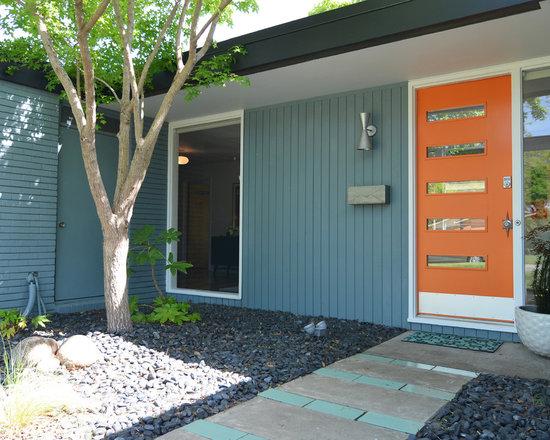 Brick exterior home design ideas pictures remodel and decor - Mid century exterior doors ...