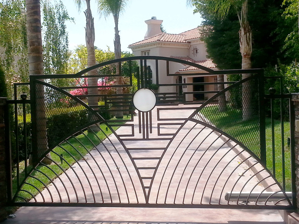 Decorative Iron Beverly Hills Contemporary Entry Los