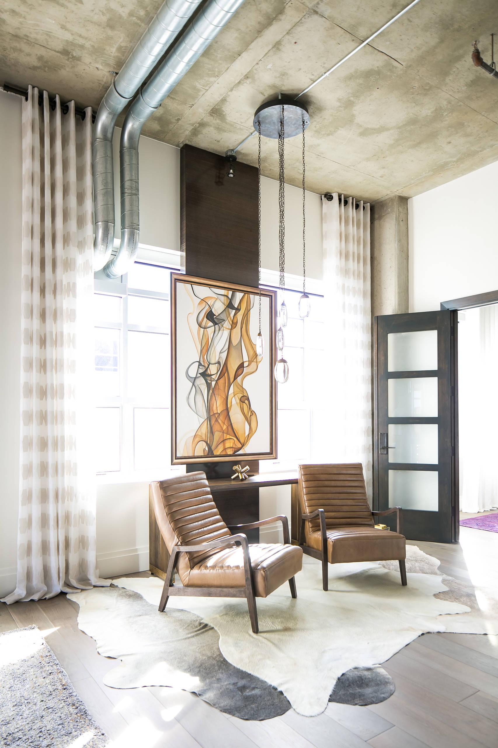 Denver Colorado Residence Loft Style ENTRY LOUNGE