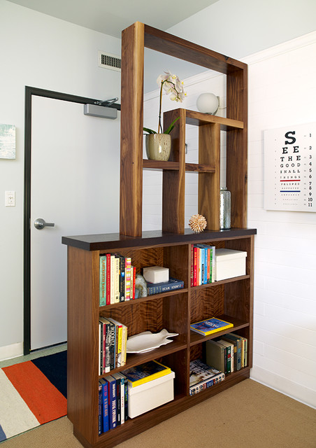 Divider Bookcase Contemporary Entry