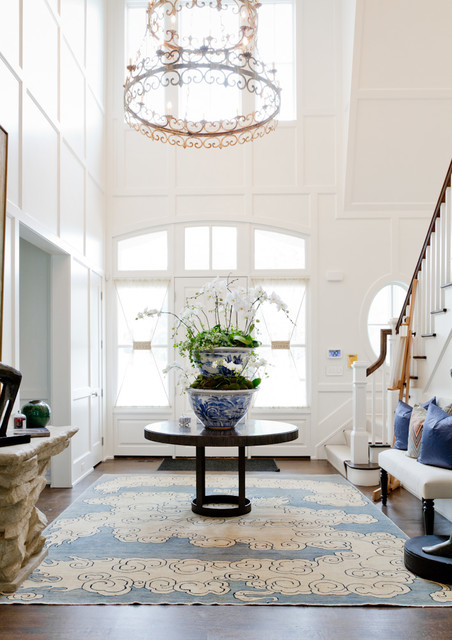 Two Story Foyer Height : Donna livingston design holiday house hamptons