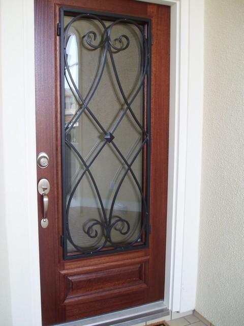 Door Grills Handles Craftsman Entry Houston By Ross Metal Works