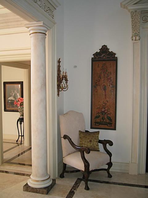 Doric Cast Stone Column traditional-exterior
