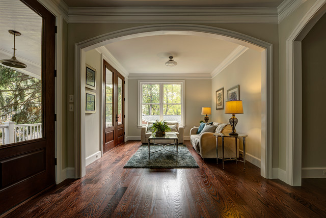 Foyer Ideas Craftsman : Double door entry and foyer sitting room craftsman
