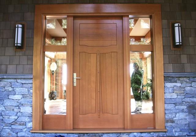 Douglas Fir Custom Entry Doors Eingang Vancouver Von Island Timberframe Ltd