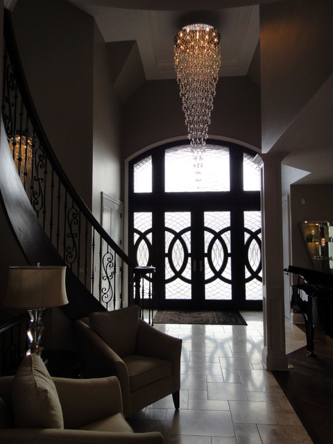 Dramatic Foyer Fixture Traditional Entry Chicago