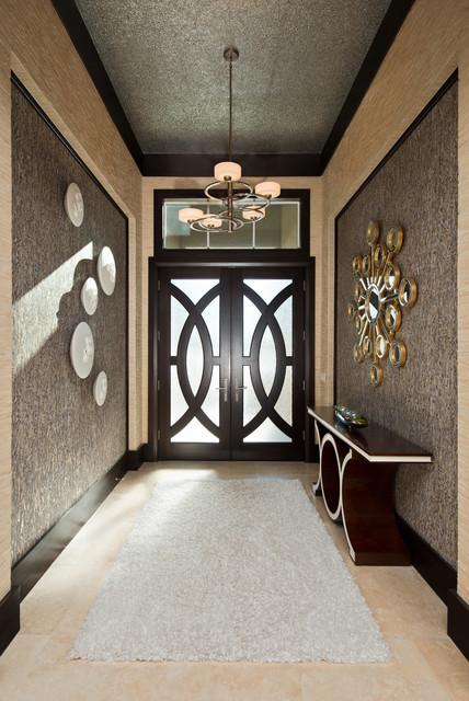Dramatic Foyer Sparkles Contemporary Entry Other