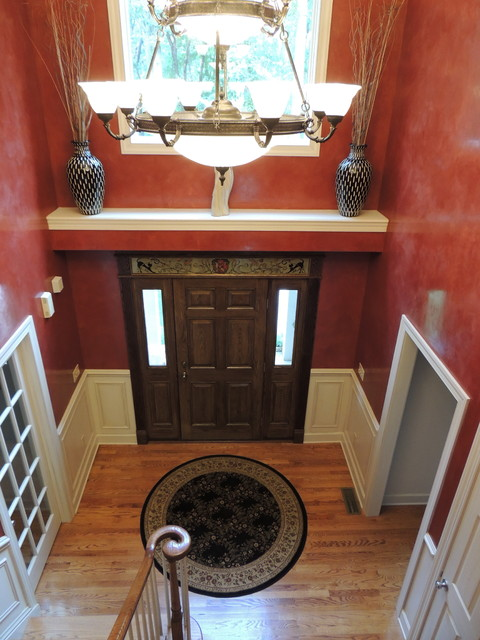 Dramatic Foyer Lighting : Dramatic foyer transitional entry philadelphia by