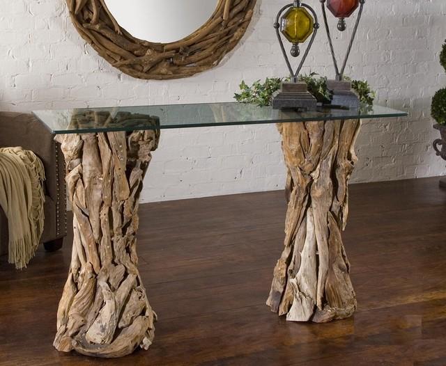 Driftwood Console Table traditional-hall