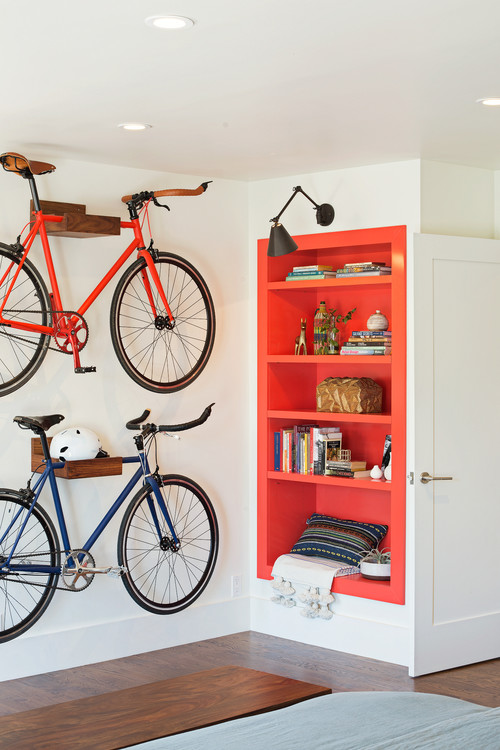 10 decorating ideas for your wall niche - Small space bike storage decoration ...
