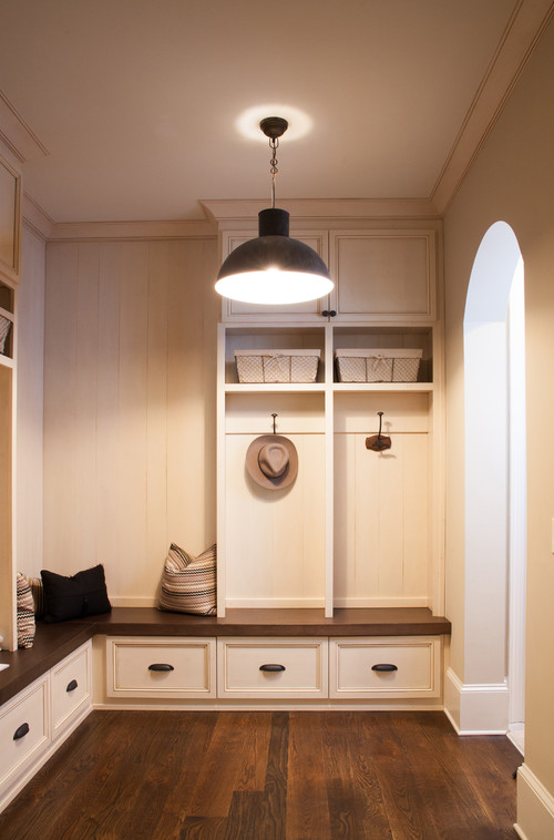 A Pendant Light Like The Hudson Valley Lydney Adds Serious Style To Mudroom Photo