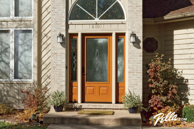 Durable Pella Architect Series Fiberglass Entry Doors Add Style