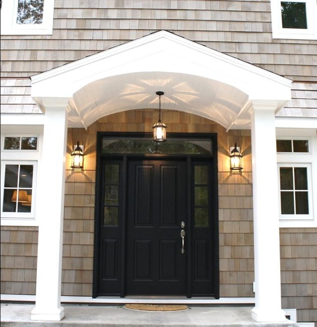 Possible New Entry For My Dutch Colonial Home Homebase Inspiration Front Door Black Doors Design