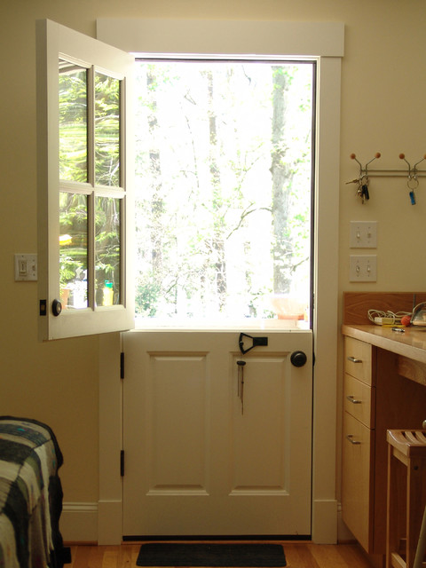 Dutch door in druid hills renovation for Back door with window that opens