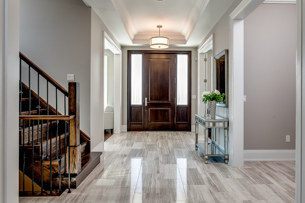 Inspiration for a transitional entryway remodel in Toronto