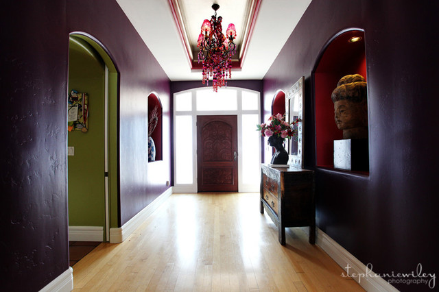 Eclectic & Colorful eclectic entry