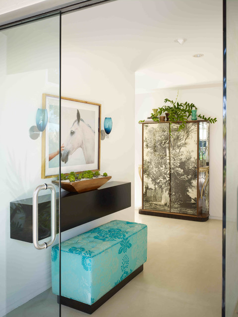 Eclectic modern contemporary entry orange county by pal smith for Design interieur maison limoges