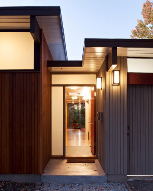 Houzz Home Design Exterior Entrance: Eichler Front Addition