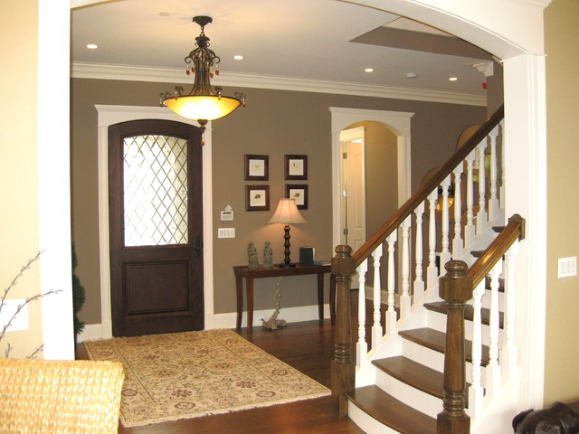 Tan Foyer Colors : Elegant foyer traditional entry chicago by follyn