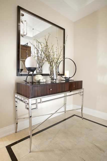 Elegant Foyer Table Decor : Elegant foyer modern entry toronto by jacqueline