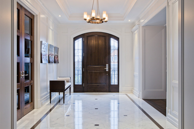 Foyer Design St Sauveur : Elegant front foyer transitional entry toronto by