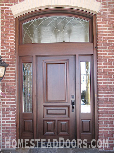 Elegant Mahogany Entryway Custom Made with Solid Wood traditional-entry